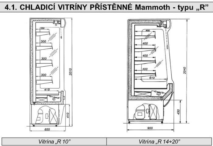PŘÍSTĚNNÁ CHLADÍCÍ VITRÍNA Mammoth R-20
