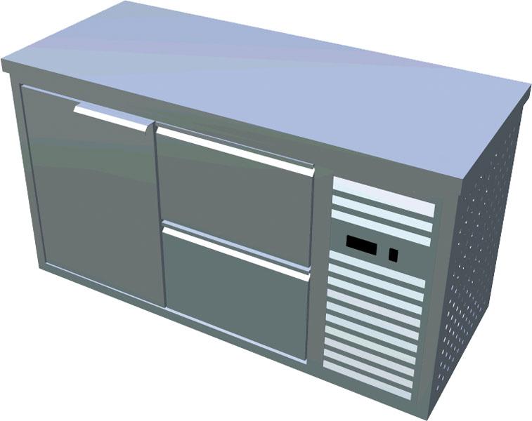 Chladící stůl 1x dveře 2x zásuvka X-CS600-2Z1D-P