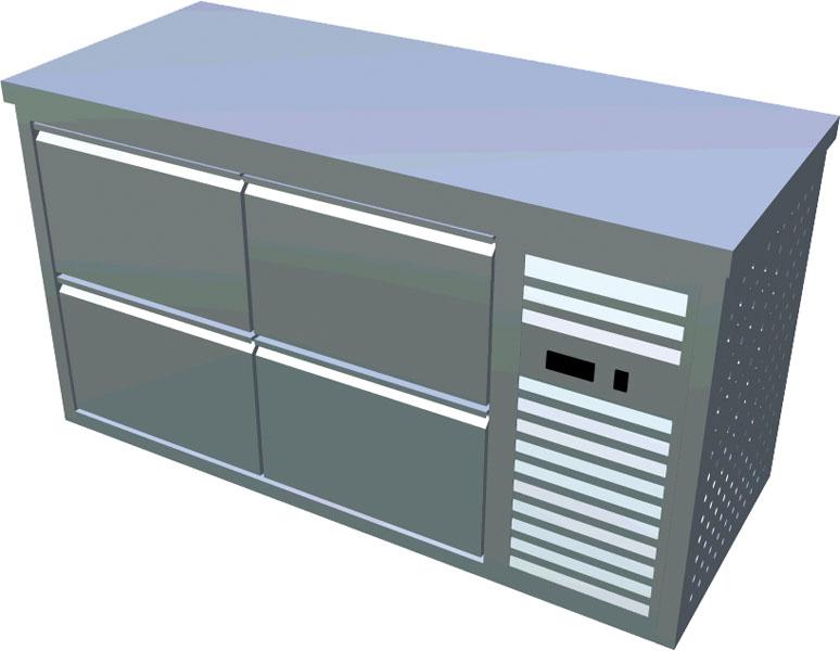 Chladící stůl 4x zásuvka X-CS600-4Z-P