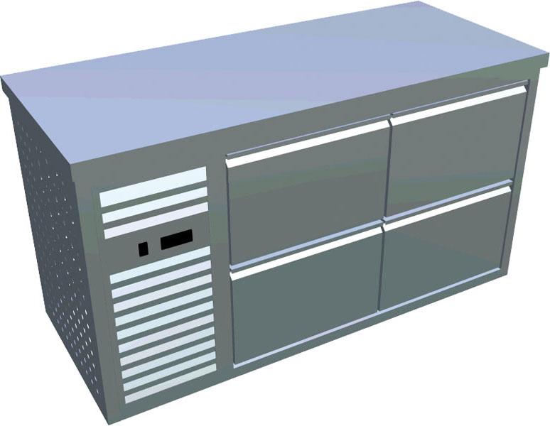 Chladící stůl 4x zásuvka X-CS600-4Z-L