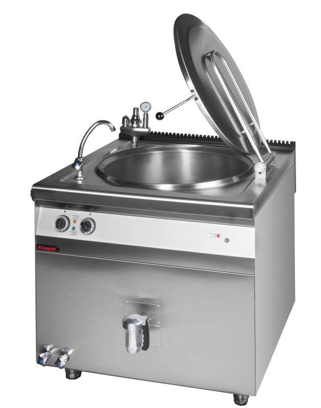 Elektrický varný kotel KROMET 900.BEK-150.2 AN / nepřímý ohřev - 150 ltr, automatické dopouštění