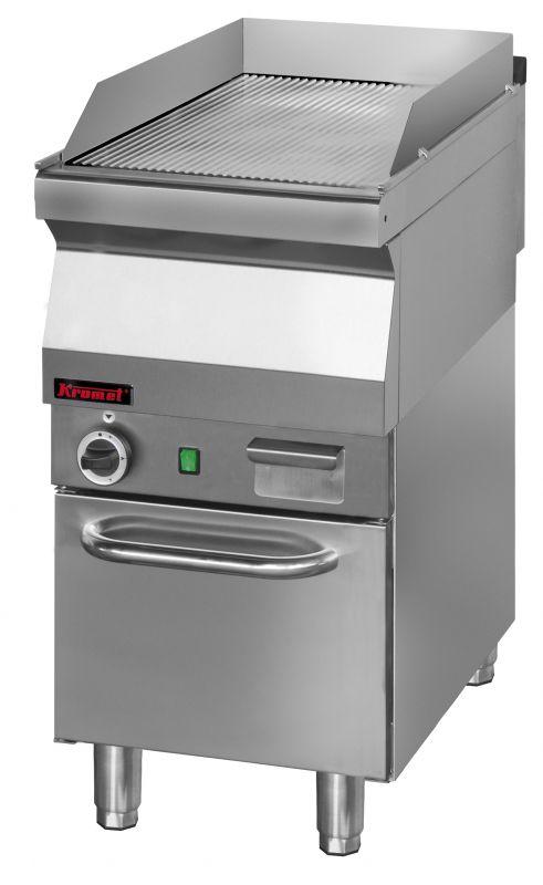 Plynová grilovací deska KROMET 700.PBG-400R / chromovaný povrch-rýhovaný