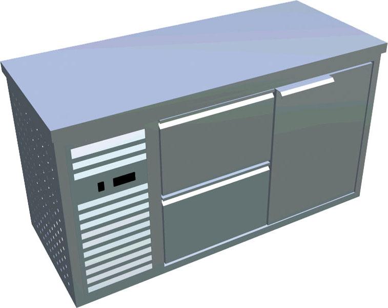 Chladící stůl 1x dveře 2x zásuvka X-CS600-2Z1D-L