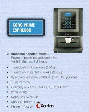 KORO PRIME ESPRESSO Automatický kávovar