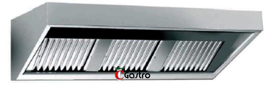 Digestoř nástěnná WHE 280/70 (2800x700x450) profesionální, nástěnný odsavač par