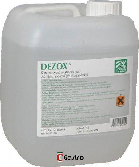 DEZOX 5 LT, DEZINFEKČNÍ PROSTŘEDEK NA POVRCHY , ANTI-COVID , antivirulentní, proti virům a bakteriím