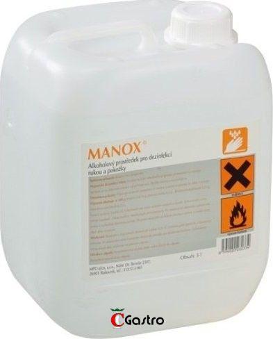 MANOX 5 LT, DEZINFEKČNÍ PROSTŘEDEK NA RUCE , ANTI-COVID , antivirulentní, proti virům a bakteriím