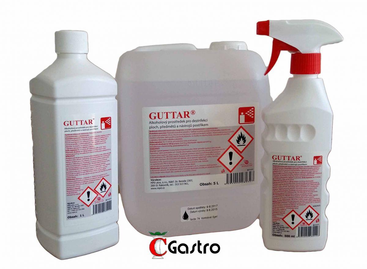 GUTTAR 5 LT, DEZINFEKČNÍ PROSTŘEDEK NA POVRCHY , ANTI-COVID , antivirulentní, proti virům a bakteriím, virucidní