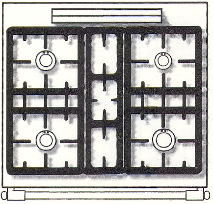 SPORÁK LACANCHE LG 741CT CORMATIN plynový CLASSIC 4 hořáky RETRO